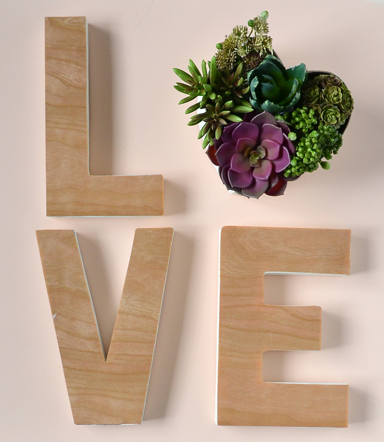 Love valentine decoration diy crafts using paper mache letters