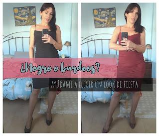 ¿Negro o burdeos? Ayúdame a elegir entre dos looks de fiesta