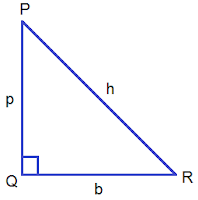 Right Angled Triangle PQR