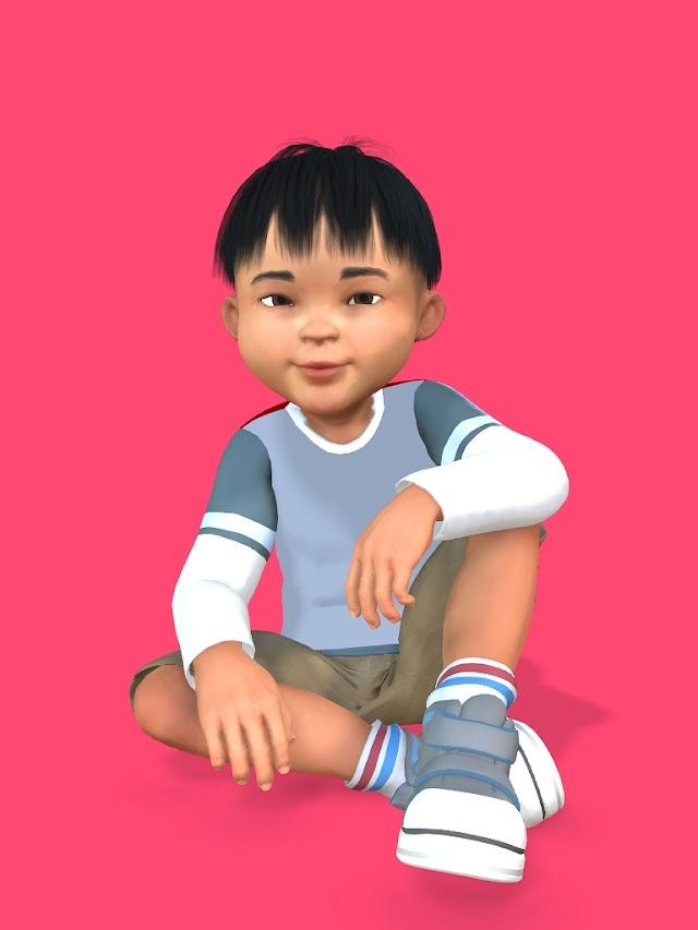 Free Character - Asian Boy Character