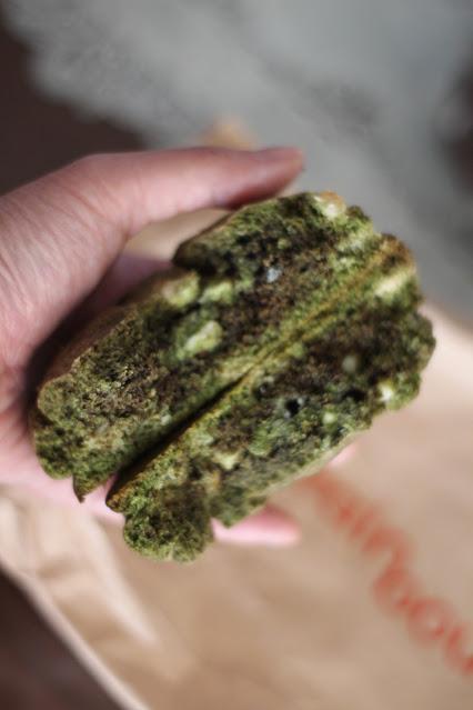 matcha white chocolate macadamia cookie