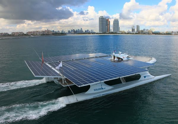 A Supersized Solar Powered Catamaran The Turanor