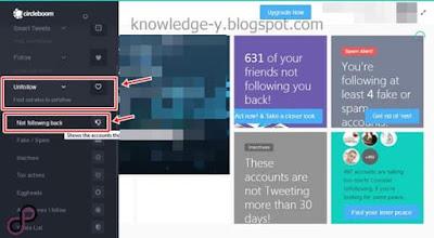شرح كيفة الغاء متابعة من لا يتابعك عل تويتر عبر اداة Circleboom