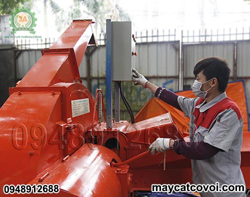 Điều chỉnh cần tốc độ cho băng tải Máy băm cỏ công suất lớn 3A 9RC-130