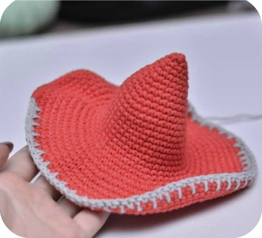 Crochet gnome hat