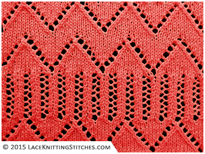 #Lace knitting No.23 | Madeira Wave stitch is ideal for a border, but may also be repeated up the entire length of a knitted piece with very striking results
