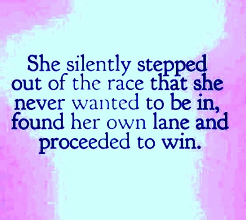 stepping out of the rat race and living life at our own speed and on our own terms means we've finally won first prize. #quotes