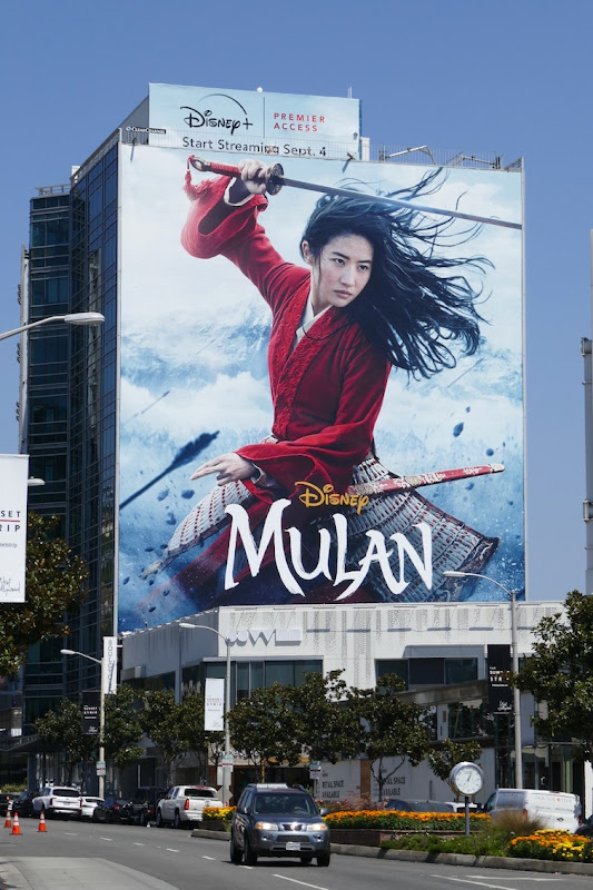 Giant Mulan Disney Premier Access billboard