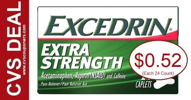 Excedrin CVS Couponers Deal 8-2-8-8