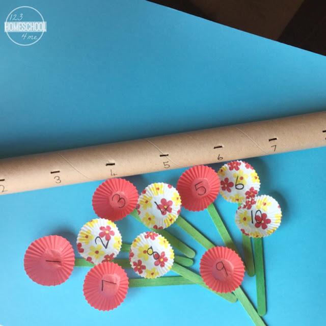 fun spring number line activity for kindergarten