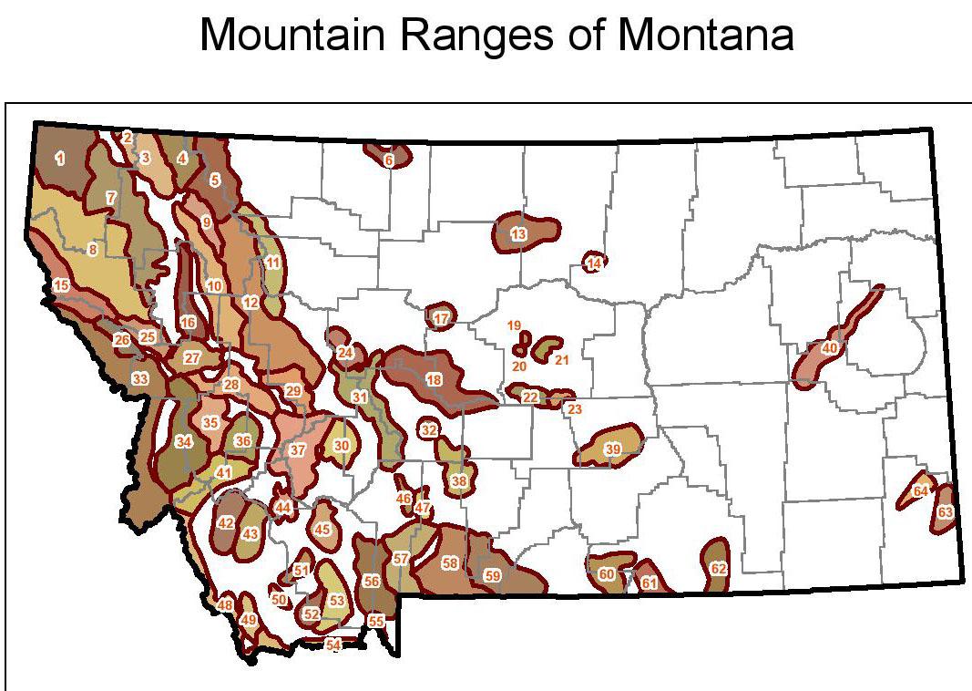 Troutbugs: Montana Mountain Range Quiz