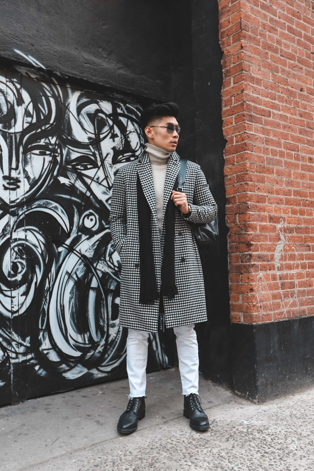 Levitate Style - How to Wear a Bold-Patterned Top Coat