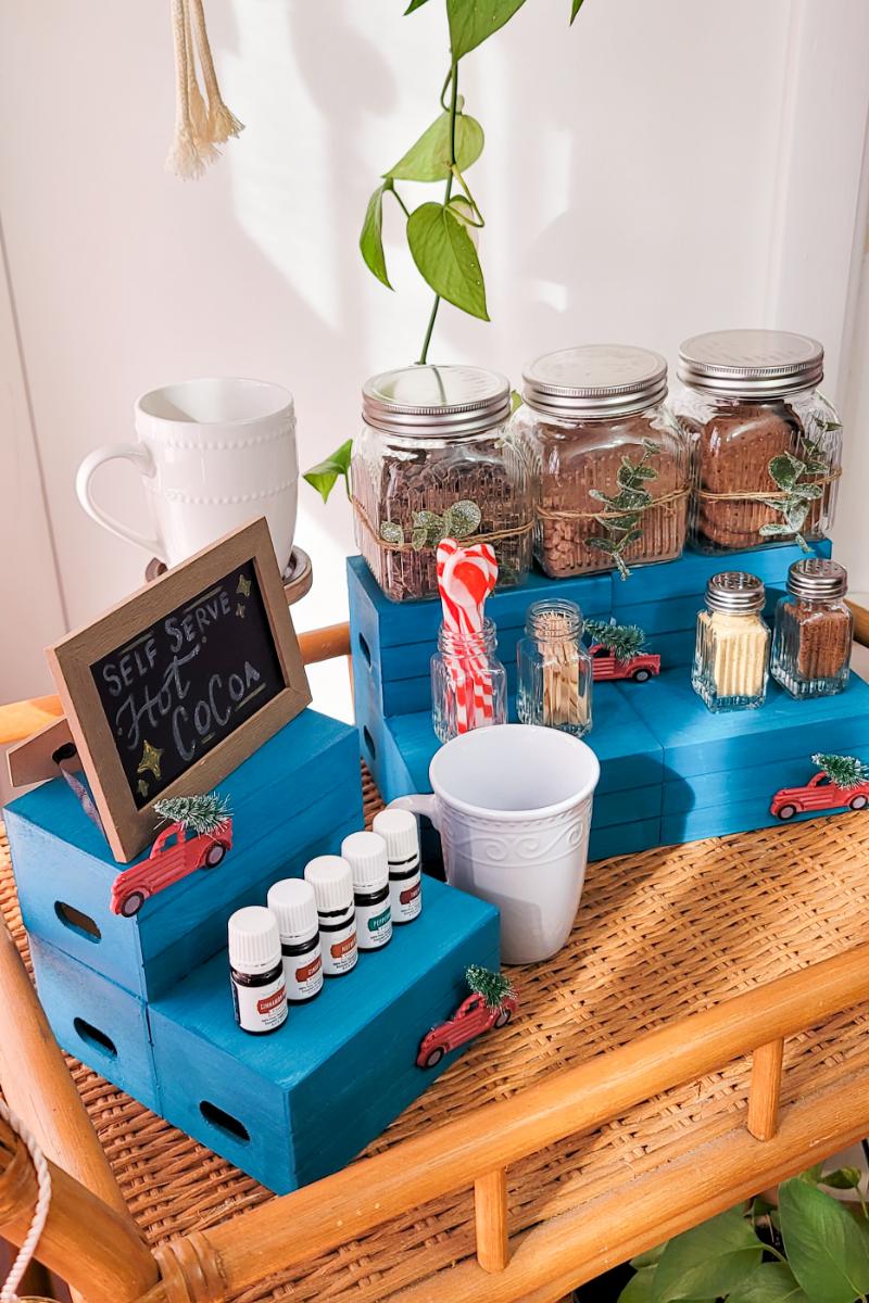 DIY Dollar Store Hot Cocoa Chocolate Bar Featuring Vitality Oils