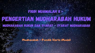Hukum Mudharabah