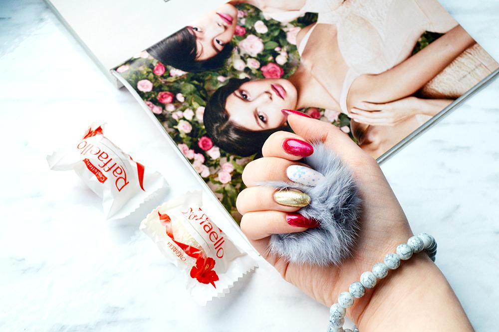 manicure świąteczny wzorki