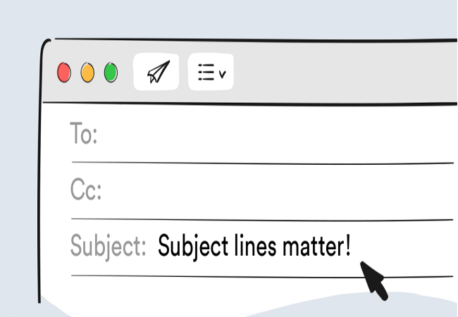 subject line should be compelling