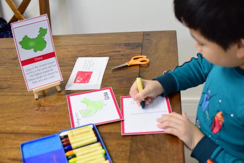 COUNTRY STUDY CHINA: Postcard Making Activity