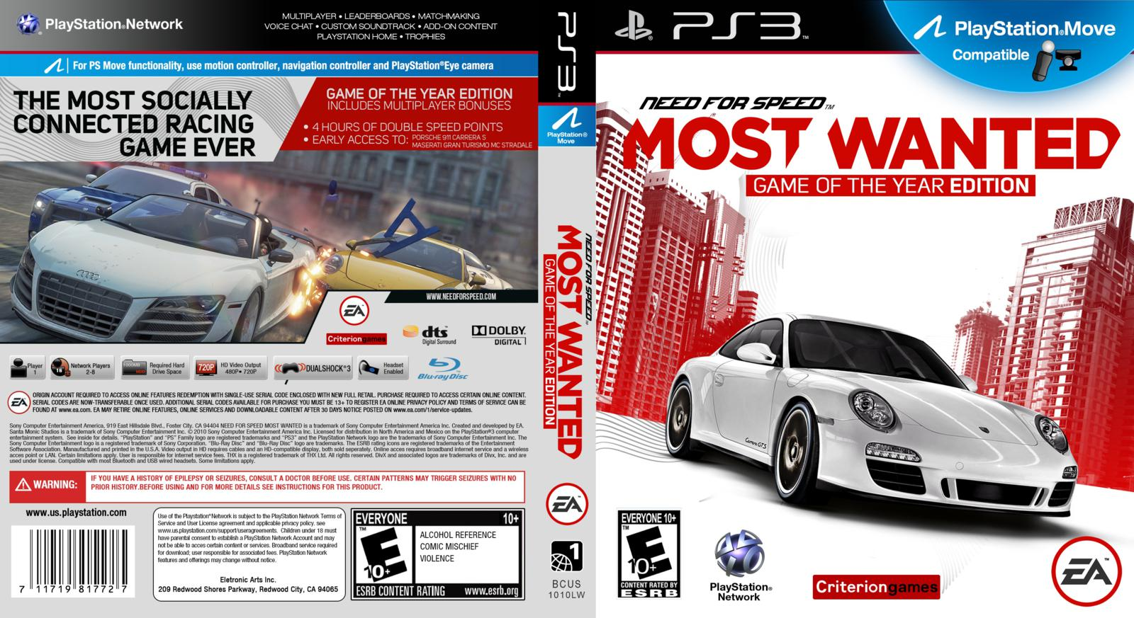 2 player need for speed ps3 playstation universe. Black Bedroom Furniture Sets. Home Design Ideas