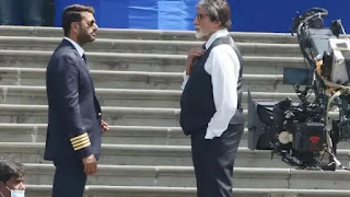 Amitabh Bachchan and Ajay Devgn on set of 'May Day'