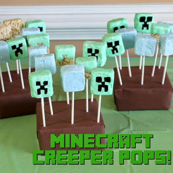 Minecraft birthday party ideas, themed food, treats, games and decorations!