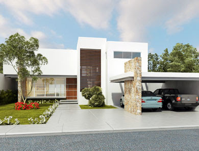 Fachadas minimalistas moderna casa con fachada minimalista for Fachada casa minimalista moderna