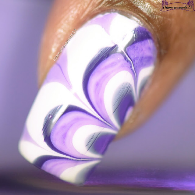 Watermarble Wednesdays: Dark Purple, Lilac & White