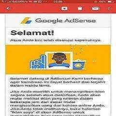 Blog Balkonhotel di terima oleh Google Adsense