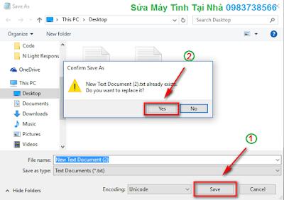 Cách lưu file Notepad bằng tiếng Việt - H04