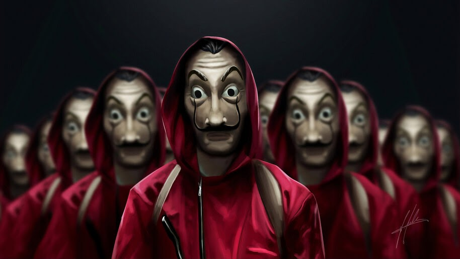 Money Heist, Costume, Dali Mask, 4K, #6.1112