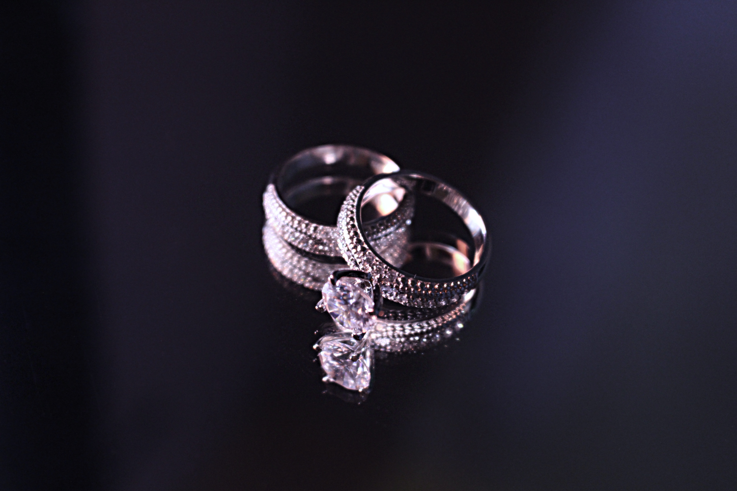 silver jewelry in close up