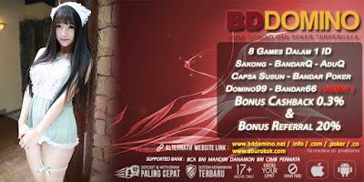 Promo bonus Judi Bandar66 Online BDdomino.info
