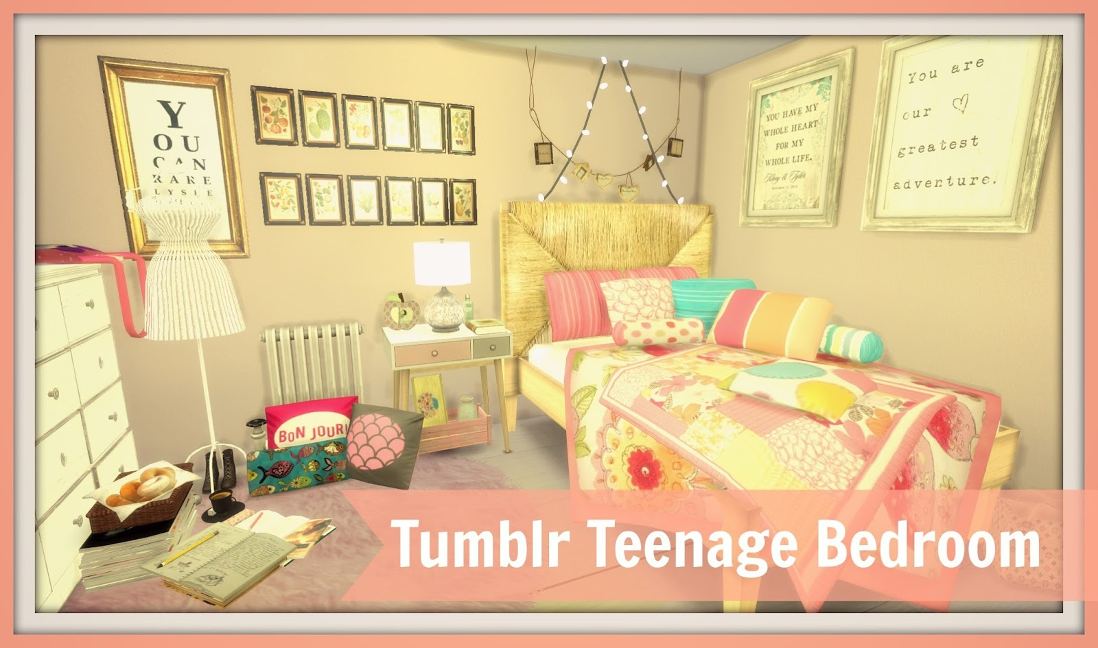 Sims 4 Tumblr Teenage Bedroom Dinha
