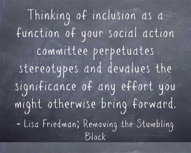 Inclusion as social action perpetuates stereotypes; Removing the Stumbling Block