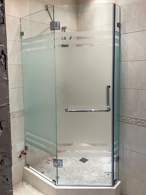 types of glass showers