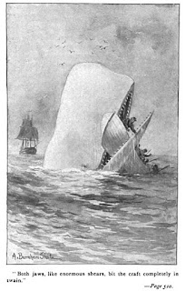 An illustration from Herman Melville's Moby-Dick