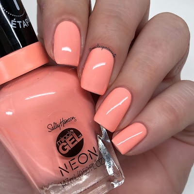 sally hansen miracle gel peach please summer 2019 neon collection limited edition swatches