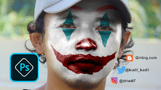 Membuat Foto Joker Adobe Photoshop CC