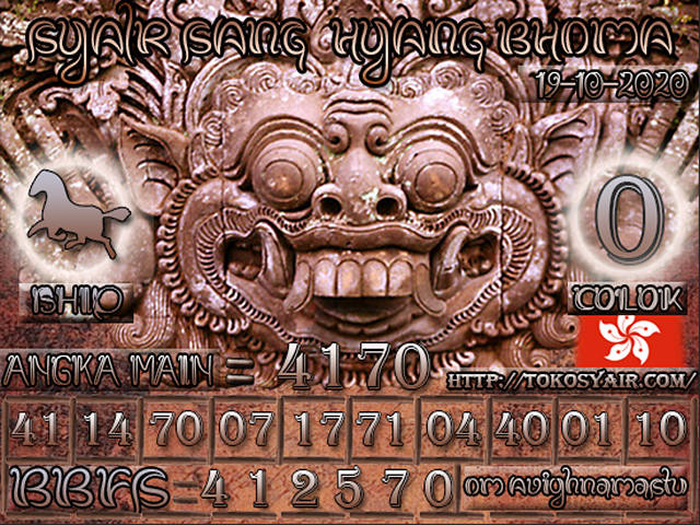 Kode syair Hongkong senin 19 oktober 2020 213
