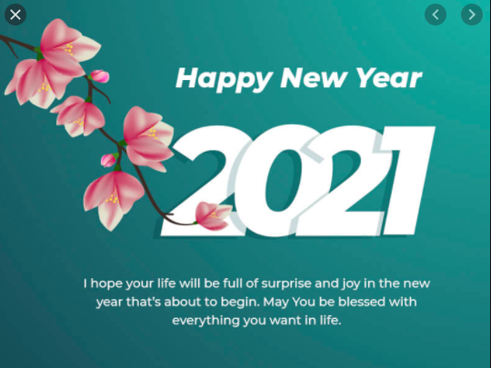 Happy New Year 2021 wishes in advance