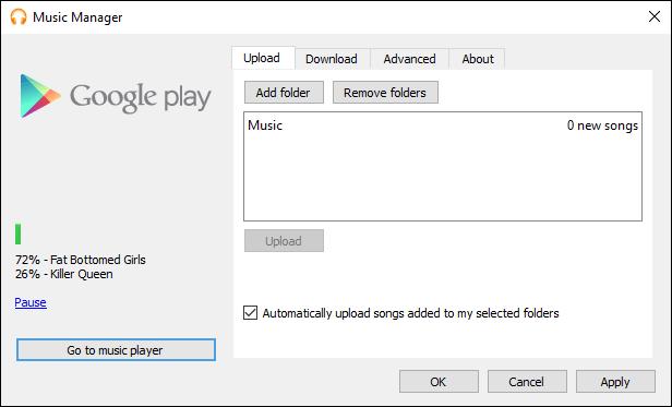 مدير موسيقى Google Play مع تحميل الموسيقى