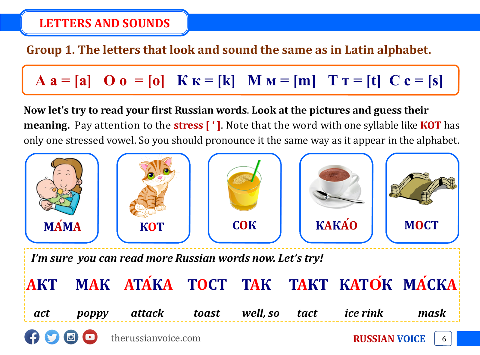 Russian Learning Materials for Beginners ~ RUSSIAN VOICE. Russian ...
