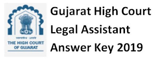 Gujarat High Court (GHC) Legal Assistant Answer Key 08/12/2019 and Question Paper Download