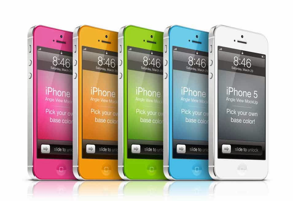 iPhone 5 Front View Mock-Up