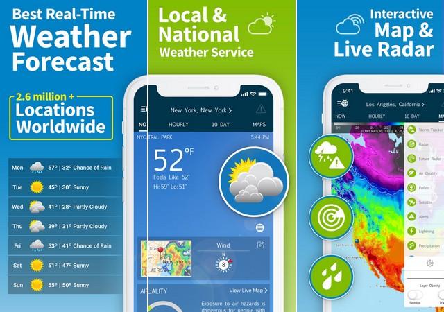 افضل برامج الطقس للايفون