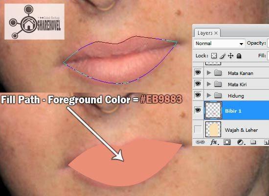 membuat vector bibir di photoshop  - tutorial membuat vector di photoshop - membuat foto menjadi kartun dengan photoshop