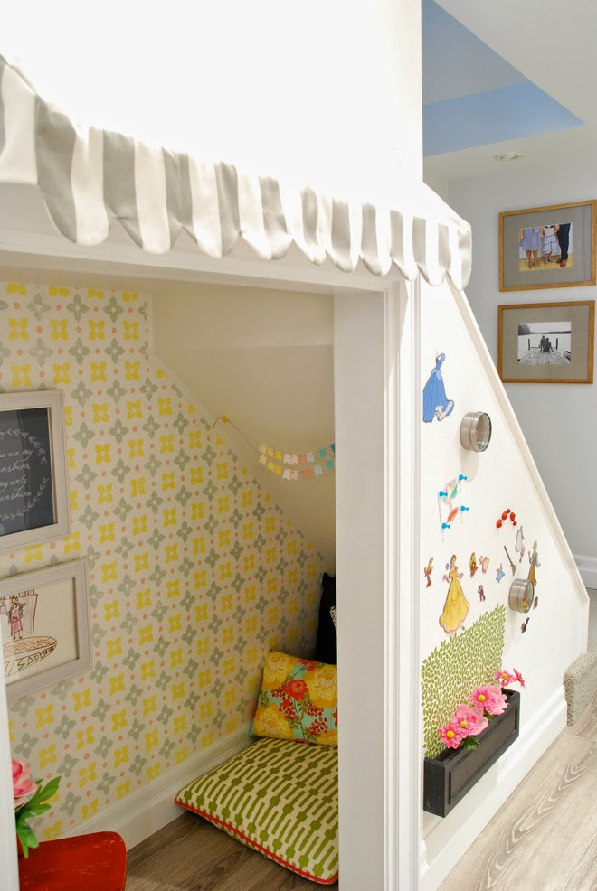 Rambling Renovators | playhouse under the stairs magnetic wall