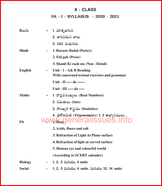 10th_class_FA-1_Syllabus_2020-2021