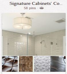 Signature Cabinets' Pinterest board for Coverings
