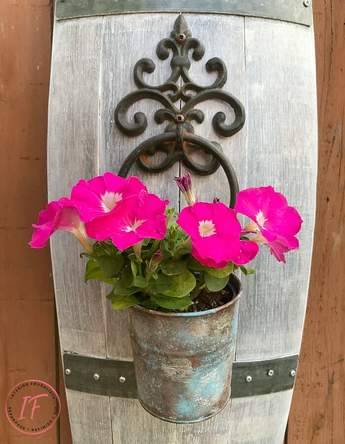Wrought Iron Door Knocker Flower Planter