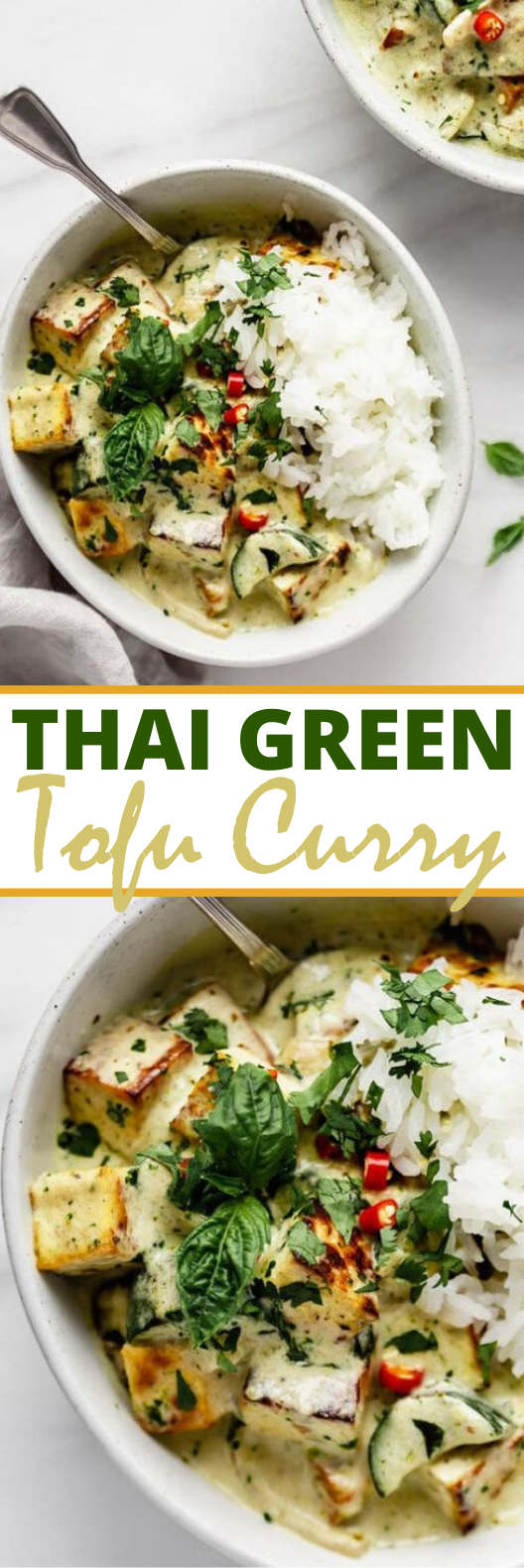 Thai Green Curry Tofu #vegan #dinner #curry #comfortfood #vegetarian